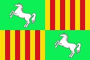 magFlags Flagge: Large Parets del Vallès | Parets del Vallès, Barcelona, Spain | Representación de la bandera de Parets del Vallès | Representació de la bandera de P