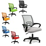 EUCO Grey Office Chair Executive Mesh Chair For Office Computer Desk Chair Ergonomic