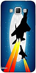 Snoogg moon and jet fighters Hard Back Case Cover Shield For Samsung Galaxy Grand Max