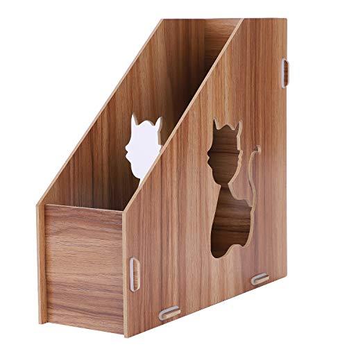 Portariviste fai da te, in legno, da scrivania, di alta qualità, cartone, portariviste, robusto, per cataloghi, cancelleria, libri e riviste 250 * 100 * 240cm holzmaserung