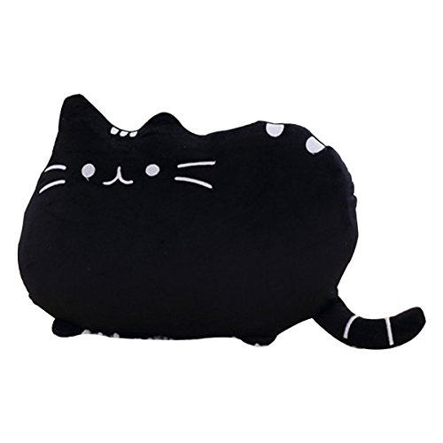 hqclothingbox-3d-plush-cat-head-dog-head-shape-pillow-car-sofa-chair-back-cushion-c13-047black