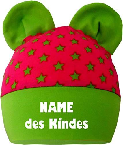 KLEINER FRATZ Petite Frimousse enfants bonnet à oreilles bébé garçon fille bébé Bonnet A mitwachsend avec nom de l'enfant - - 98 cm