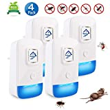 Ultrasonic Pest Repeller - 4 Pack Mice Mosquito Repellent Plug In, Indoor Repeller