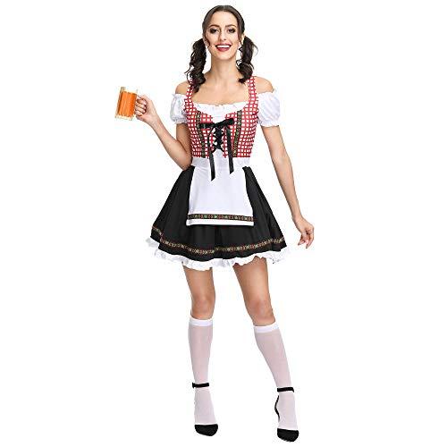 DEXIAOBANG Costume da Cameriera di Grandi Dimensioni con Luna di Miele Tedesca per Le Vacanze di Halloween E Servizio di Cameriera da Bar-s
