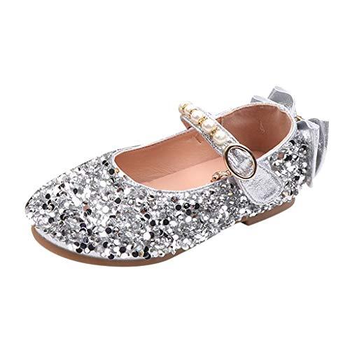 Jaysis Crystal Pearl Princess Sandals Damenschuhe Freizeitschuhe Sandalen Kinder Tanzparty Bequem Prinzessin Schuhe Größe 21-25 - Baby Mädchen 3 High-tops Schuhe Größe