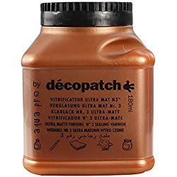 Décopatch VAUM180AO - Un pot de Vernis vitrificateur Décopatch 180 ml, aspect Mat