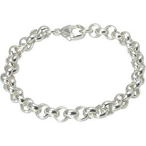 Erbscollier hochwertige Goldschmiedearbeit (Sterling Silber 925) Stärke 7,2 mm, Silberarmband, Damenarmband, Herrenarmband