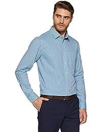 Arrow Men's Checkered Slim Fit Cotton Formal Shirt