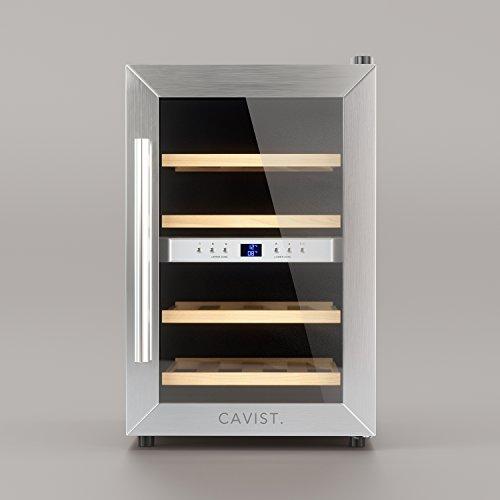 Cavist Cavist12 - Vinoteca para 12 Botellas, Acero Inoxidable, Plateado, 48 x...