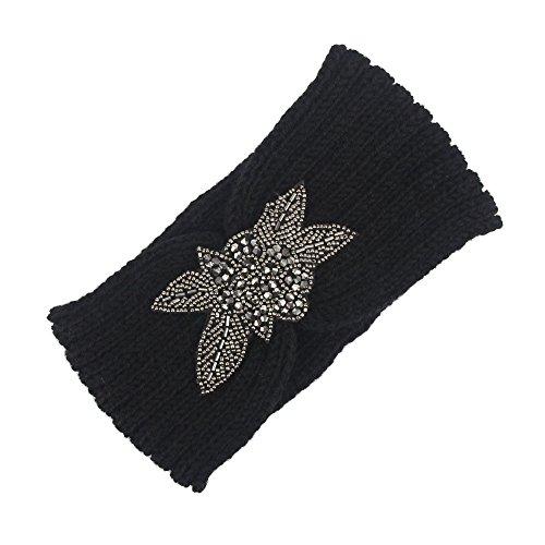 Beonzale Frauen-Strickendes Stirnband Handgemacht Halten Warmes Hairband Kopfband Elastische Sportliche Headband Für Joggen Yoga Gym Fitness Training (Medaillons In Haar Zu Halten)