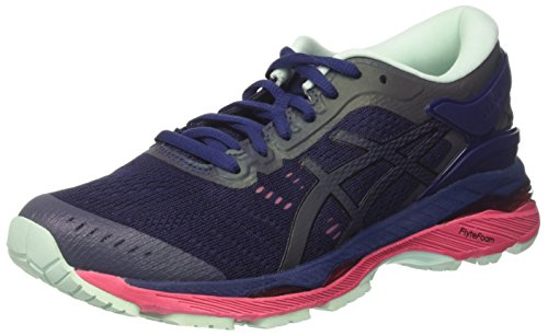 Asics Women's Gel-Kayano 24 Lite-Show Running Shoes, Blue (Indigo Blue/Black/Reflective), 6.5 UK...