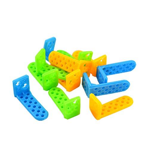 juler STEM Giocattolo Fai-da-Te Porta-Colori di plastica ad Angolo retto Tipo ad Angolo Fisso Pezzo L Tipo Biella Multi-specifica,Blu,Taglia Unica