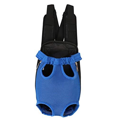 PengGengA Haustiertragetasche Für Hunde Und Katzen Faltbarer Rucksäcke Gut Hund Carrier Für Wander-Kampagne Tägliche Verwendung Blau S