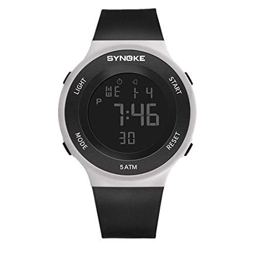 NEEKY Herren Armbanduhr,Sportuhren,Smartwatch,Für Unisex Fitness Uhren - LED Digitaluhr Herrenuhr Alarm Wasserdichte Watch
