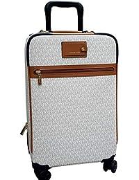 343f82e989 Michael Michael Kors Signature Travel Trolley Rolling Carry On Suitcase  Vanilla Acorn