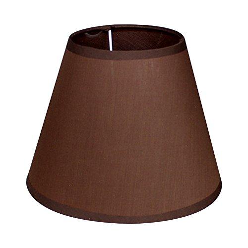 DULEE Stoff Tischlampe Lampe Schirm Celling Licht Anhänger Lampenschirme,13 * 23 * 18cm braun -