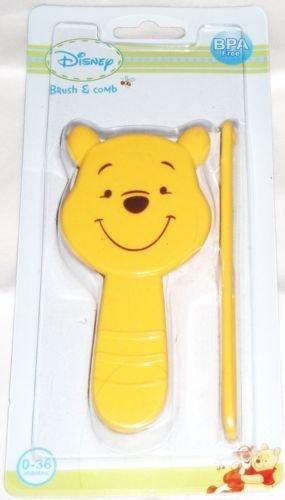 Mignon en forme de Winnie l'ourson jaune Brosse à cheveux et peigne