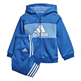 adidas Kinder Logo Trainingsanzug blau 104
