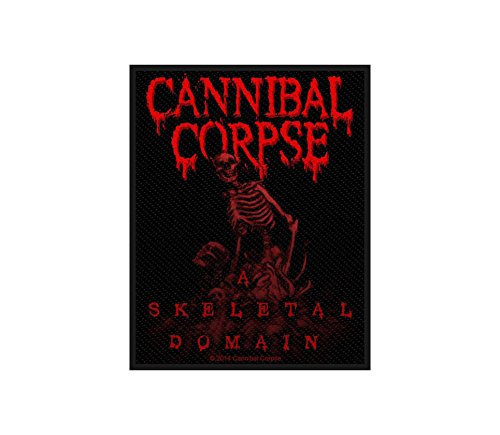 Cannibal Corpse Aufnäher - A Skeletal Domain - Cannibal Corpse Patch - Gewebt & Lizenziert !! (Cannibal Corpse-patches)