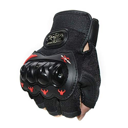 LXMJ Handschuhe, Outdoor-Sportschutzhandschuhe, Motorrad-Fahrradhalbfingerhandschuhe, Hartschalen-Splitterfeste Handschuhe. L (21-22 cm) -