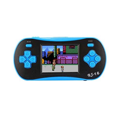 CUEYU Handheld Spielkonsole,2,5 Zoll 260 Spiele Retro Spiel Spieler Klassische Spiel-Konsole,Geburtstagsgeschenk für Kinder Eltern Freunde (Blau) -