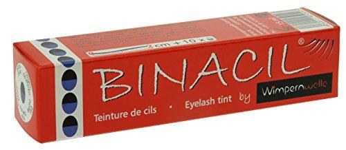 BINACIL Wimpernfarbe blau-schwarz 15 ml Augenbrauenfarbe Wimpernfarbe