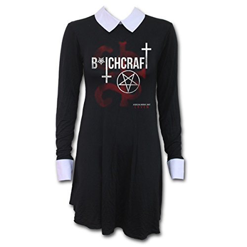 Mini dress da donna spiral direct x bitchcraft baby doll american horror story (nero) - x-large