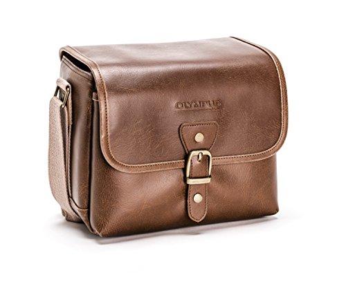 Olympus Tracker Klassisches Design Vintage Kameratasche (braun) -