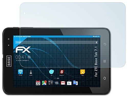 ZTE Base Tab 7.1 Schutzfolie - 2 x atFoliX FX-Clear kristallklare Displayschutzfolie