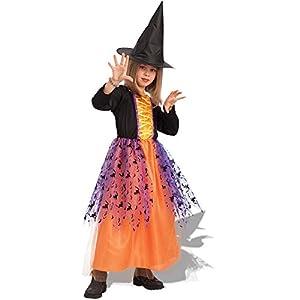 Carnival Toys - Disfraz bruja Alice en bolsa, talla V, color naranja (65017)