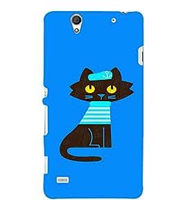 EPICCASE Captain Cat Mobile Back Case Cover For Sony Xperia C4 (Designer Case)