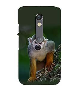 printtech Nature Animal Monkey Back Case Cover for Motorola Moto X Style