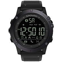 Reloj deportivo para hombre con Bluetooth y podómetro militar, impermeable, contador de calorías,