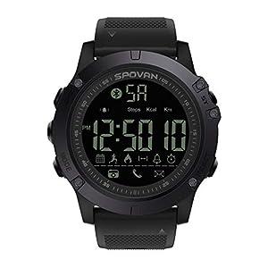 Findtime Herren Smartwatch Digital Quarz Silikon Wasserdicht IP68 Schwimmen Schrittzähler