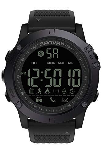 b68022bfe Reloj Deportivo para Hombre con Bluetooth y podómetro Militar, el reloj  bluetooth más vendido ✅