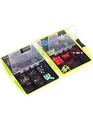 sixmad (TM) 24compartimentos aparejos de pesca caja ABS pesca caja de pesca gancho cebos Sinker Set de pesca profesional accesorios