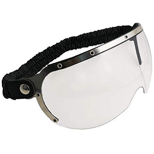 CGM Occhiali visiera da casco 750V CUSTOM Silver lente trasparent