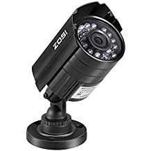 ZOSI Caméra de Nouvelle Conception pour Maison et Bureau Caméra HD 800TVL 24 Leds IR CCTV Système de Sécurité Caméra Jour / Nuit Caméra Etanche