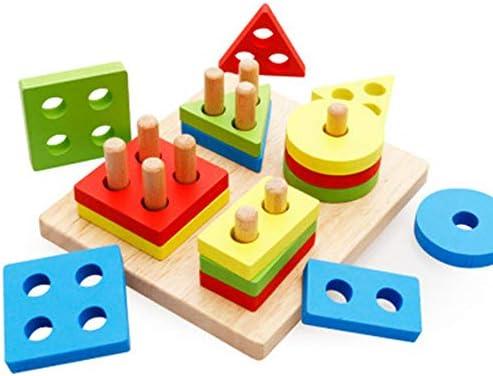 SEJNGF SEJNGF SEJNGF Bébé Jeune   Forme Puzzle Force Boîte Forme Paire De Blocs De Construction Géométrie 1-3 Ans,Wisdomset | Sale  f1b2bf