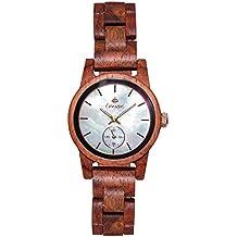 Premium en bois horloge Tense Womens Hampton (fabriqué en Canada)–Bois de rose–Nacre Cadran–Montre Femme m4700r de MOP