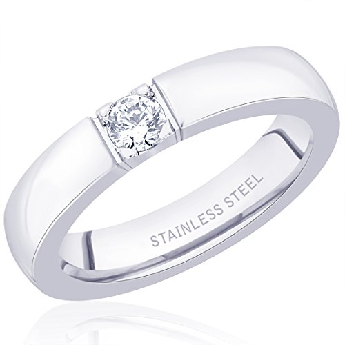 Peora 316L Stainless Steel 'Pop the Question' Ring for Men  available at amazon for Rs.425