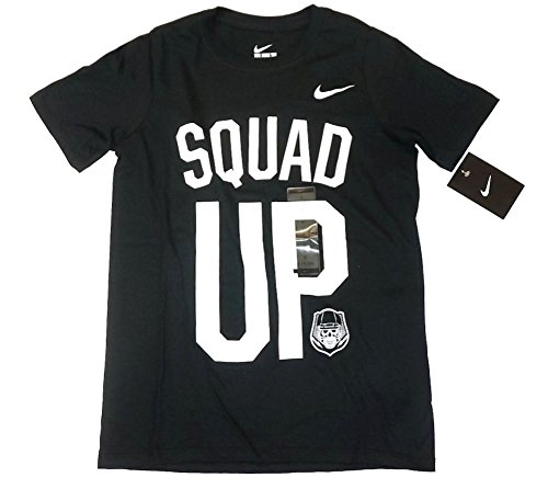 Nike Jungen Athletic Shirt (Nike Jungen Athletic Tee Shirt Squad up Medium Black/White)