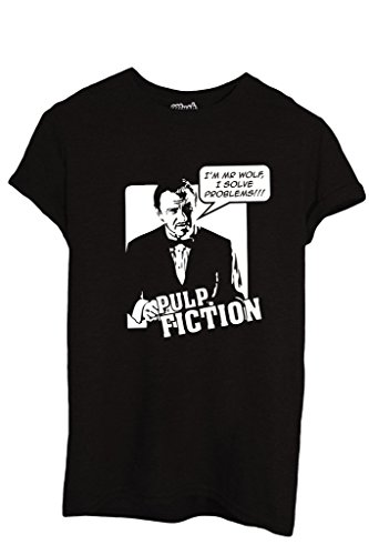 T-Shirt I'M MR WOLF I SOLVE PROBLEMS PULP FICTION - FILM by iMage Dress Your Style - Uomo-M-NERA