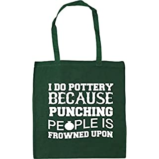 HippoWarehouse I do pottery because punching people is frowned upon Tote Shopping Gym Beach Bag 42cm x38cm, 10 litres