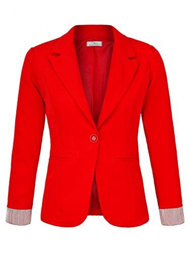 DANAEST Eleganter lässiger doppelreihiger klassischer Business Blazer (625), Farbe:Rot, Blazer 1:44/XXL