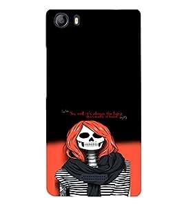 PRINTVISA Girl Skull Case Cover for Micromax Canvas 5 E481