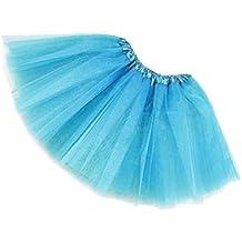 TOOGOO(R)Mujer / adulta Ropa de danza de organdi Tutu Falda de ballet Falda de fiesta de princesa Azul claro
