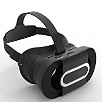 VR Headset, JoyGeek Portable Virtual Reality Glasses Fold 3D VR Glasses Google Cardboard V2.0 with Headband for 4-6 inch iPhone 7/7 Plus/6/6 Plus/5/5s/5c/4 and Android Samsung Nexus Huawei HTC MOTO Sony LG Smartphones(Black) from Joygeek