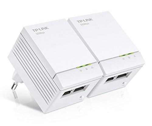 TP-Link TL-PA4020 KIT AV500 Powerline Netzwerkadapter (500Mbit/s, 2 Ports, Nano, energiesparend, Plug & Play, kompatibel mit Adaptern anderer Marken, 2er Set) weiß