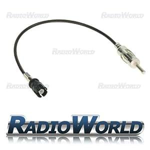 Antenne Smart Car Fortwo Roadster mât d'antenne Câble adaptateur autoradio ISO DIN